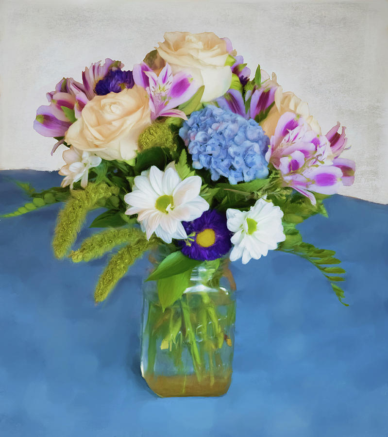 Blue Digital Art - Flower Pot by Garvin Hunter