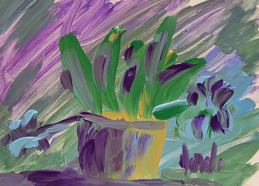 Still Life Painting - Flower Pot by Steve Jorde