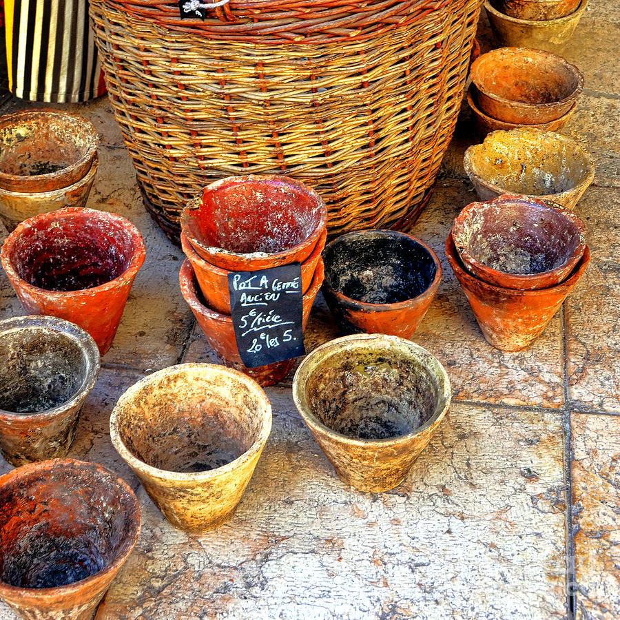 Provence Photograph - Flower Pots In Provence by Olivier Le Queinec