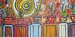 Flowers Painting - Flower Pots by Sean MacKinzie