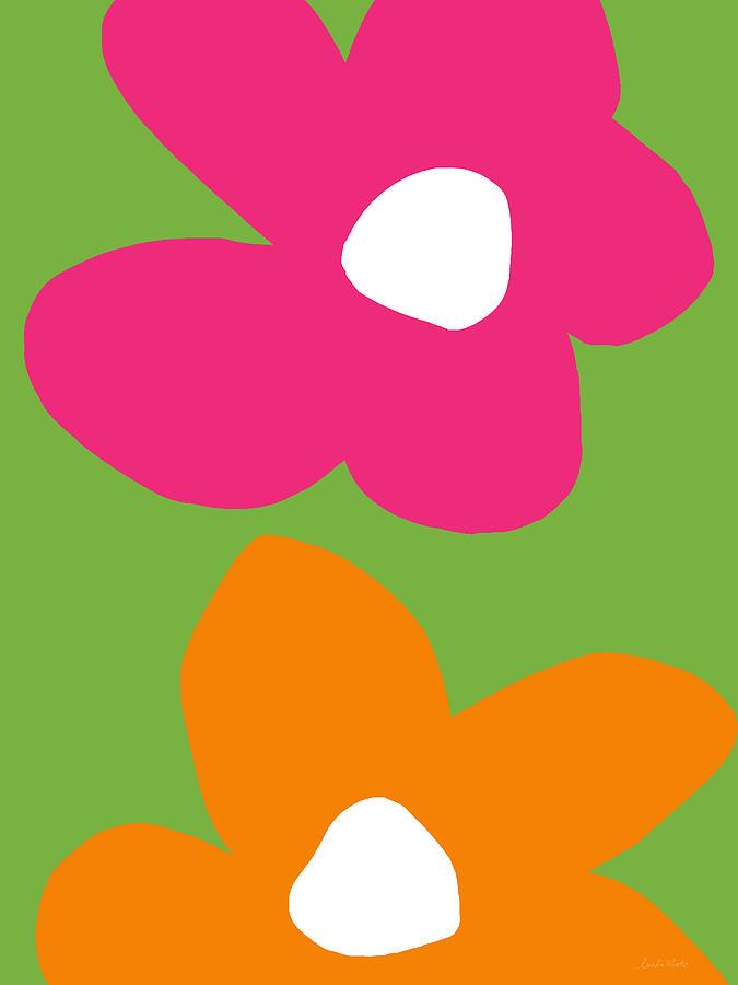 Flower Digital Art - Flower Power 1- Art by Linda Woods by Linda Woods