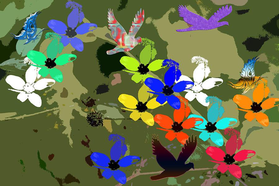 Flowers Digital Art - Flower Power 48 by Ericamaxine Price