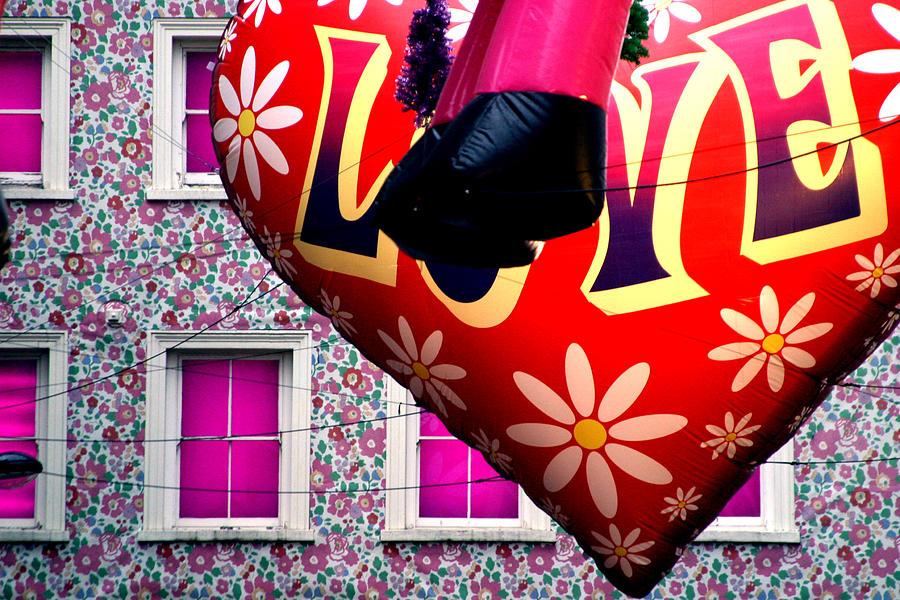London Photograph - Flower Power Man by Jez C Self