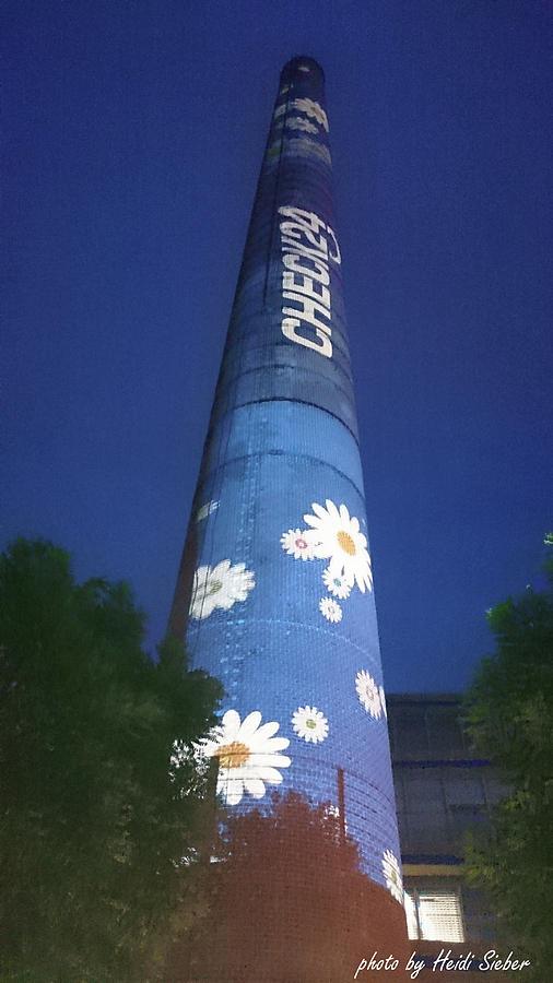 Sky Photograph - Flower Power Tower by Heidi Sieber
