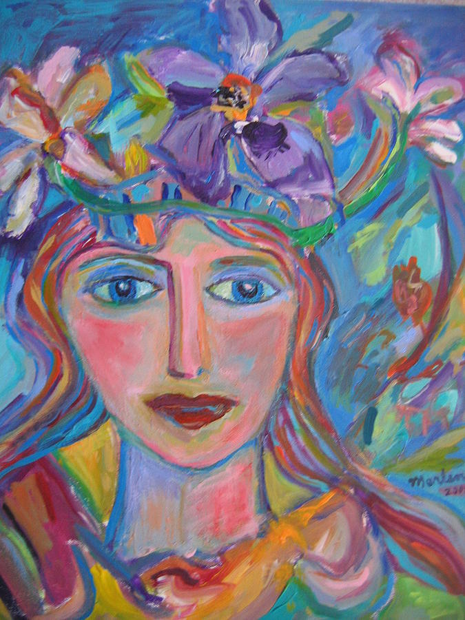Face Painting - Flower Princess by Marlene Robbins
