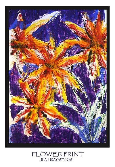 Flower Painting - Flower Print by Jennifer Halliday