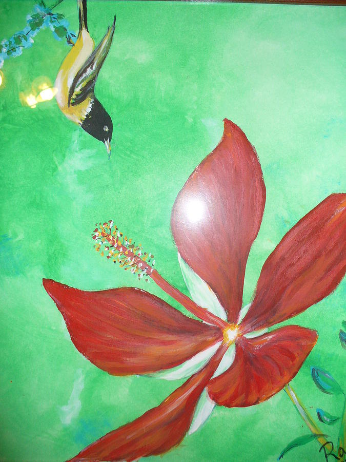 Flower Painting - Flower by Raza Mirza