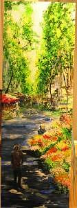 Ramblas Painting - Flower Stands In The Ramblas Barcelona by Lizzy Forrester