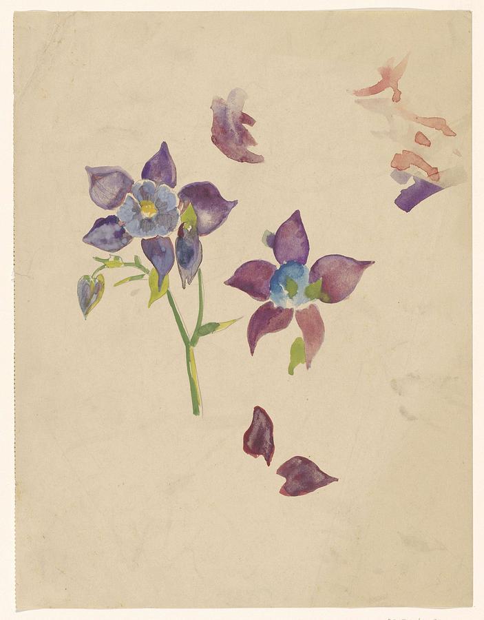 Flower Study, Carel Adolph Lion Cachet, 1874 - 1945 Painting