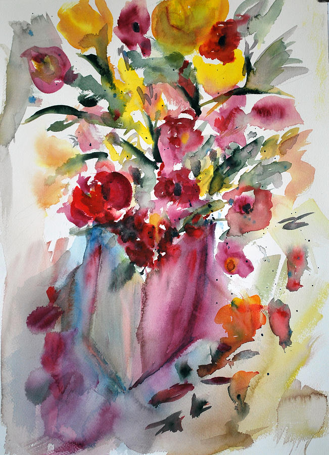 Painting Painting - Flower Study V by Neva Rossi