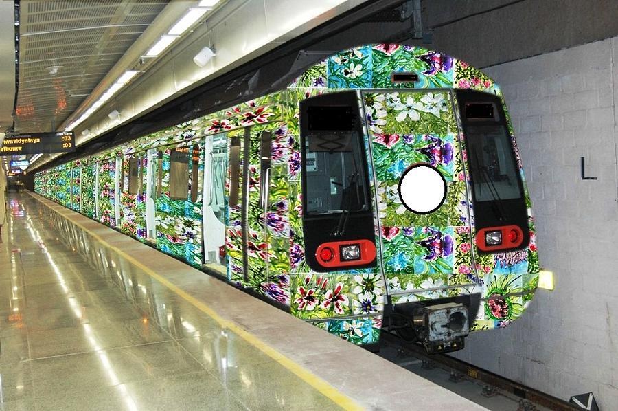 Flower Trains Photograph