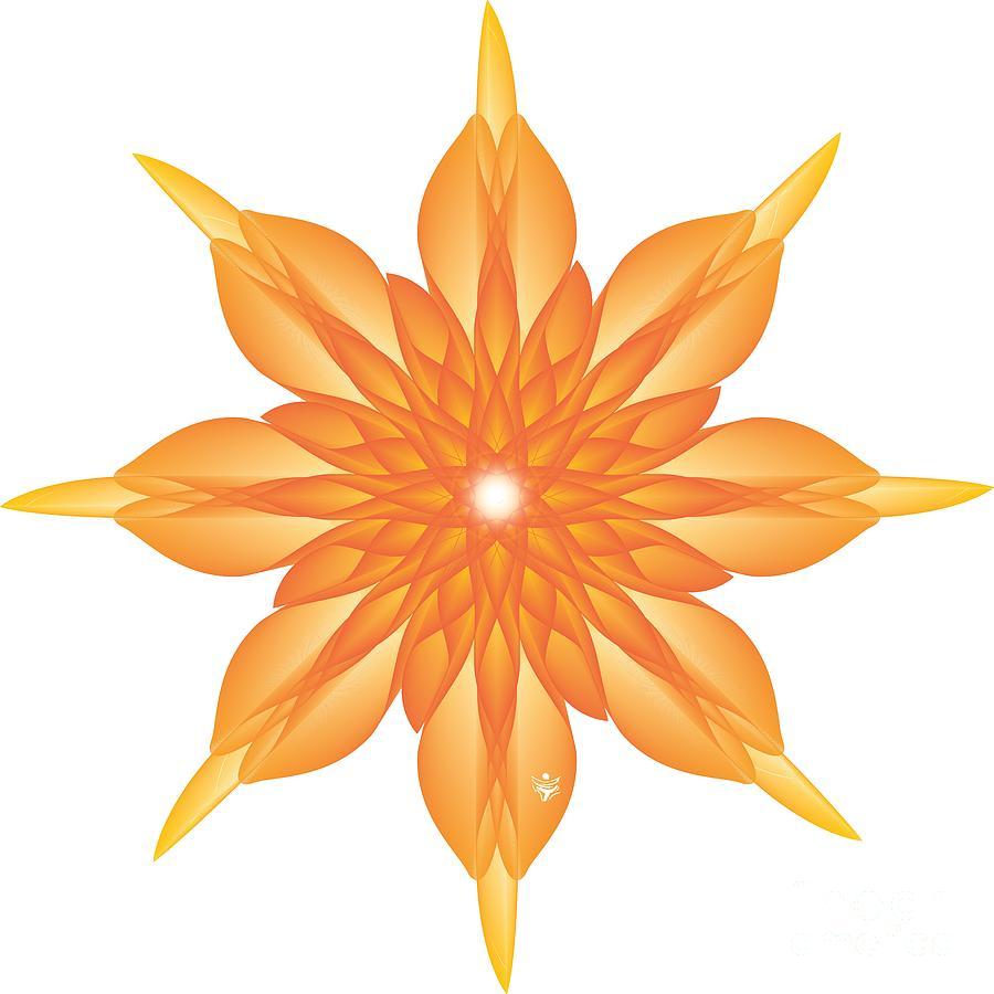 FLOWER UNUS - Abstract Art Print - Fantasy - Digital Art - Fine Art Print - Flower Print by Ron Labryzz