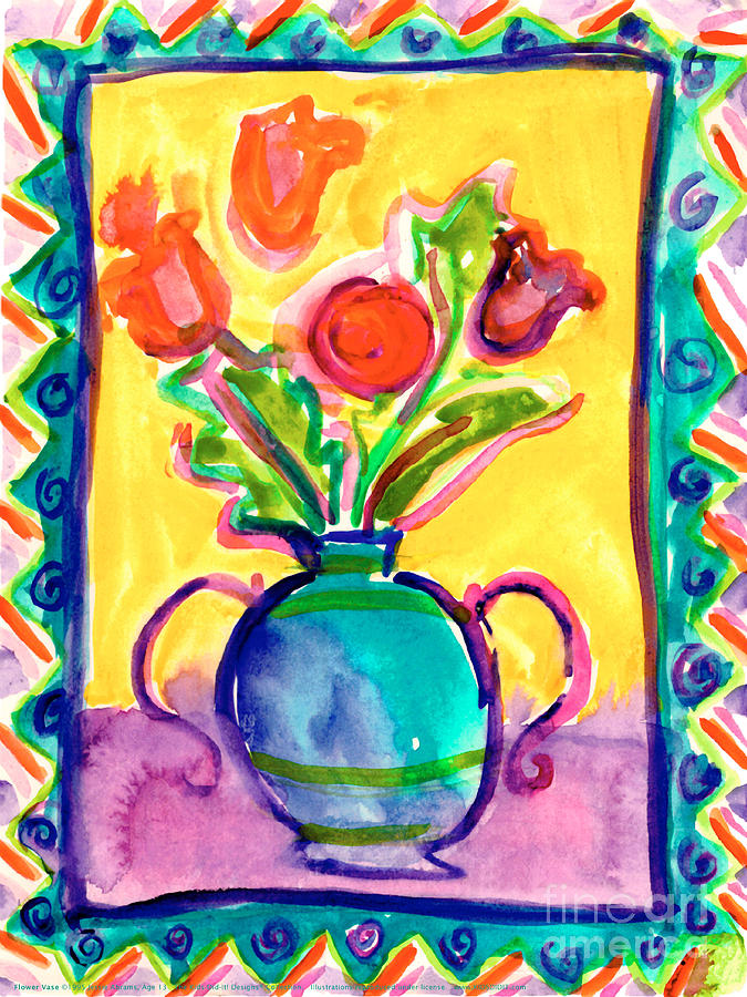 Flower Vase by Jessie Abrams Age Thirteen