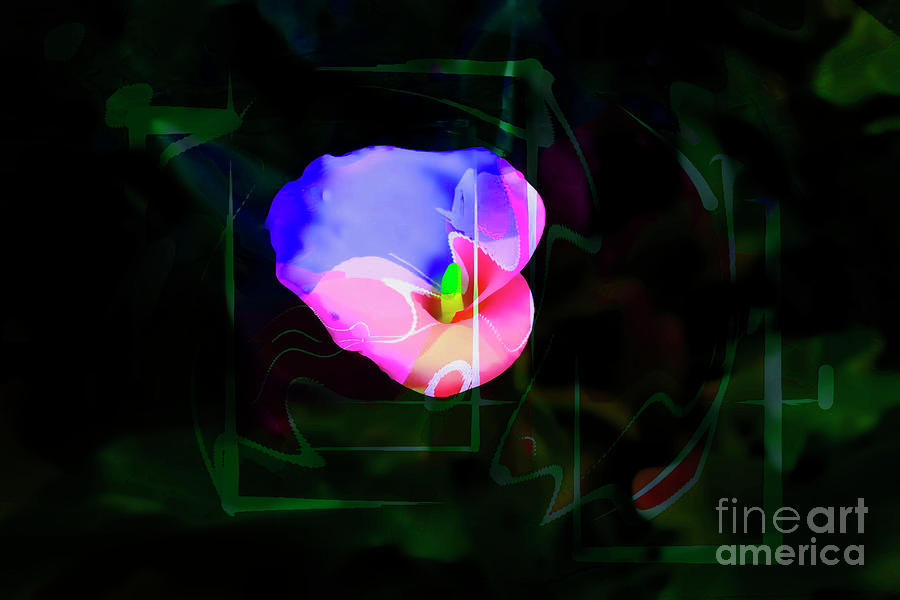 Psychedelic Photograph - Flower Wower by Al Bourassa