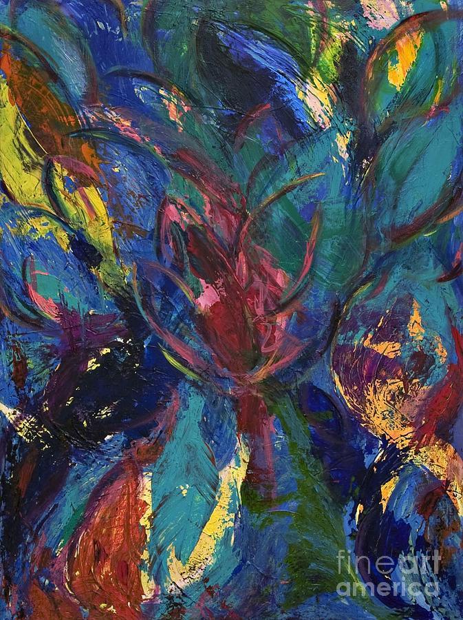 Flowerburst Painting by Sabra Chili