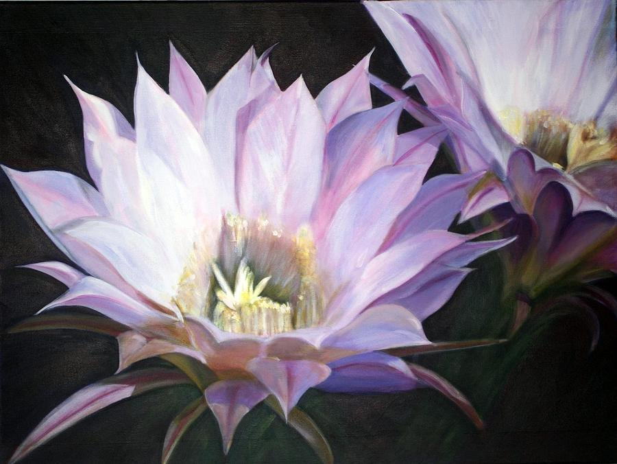 Flower Painting - Flowering Cactus by Fiona Jack
