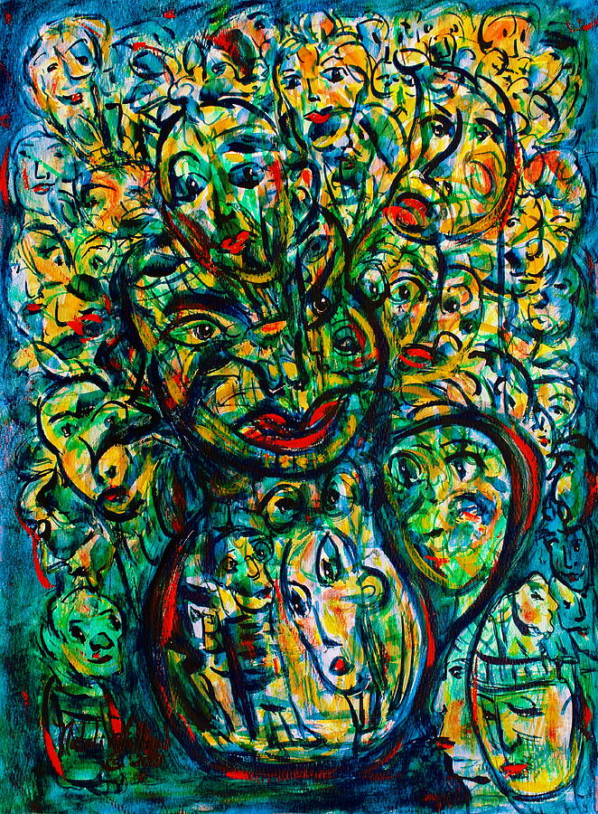 Expressionism Painting - Flowering Humans by Natalie Holland