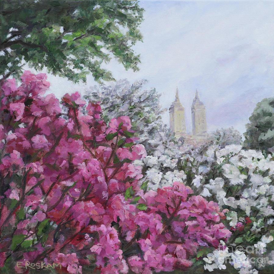Central Park Painting - Central Park In Bloom by Elizabeth Roskam