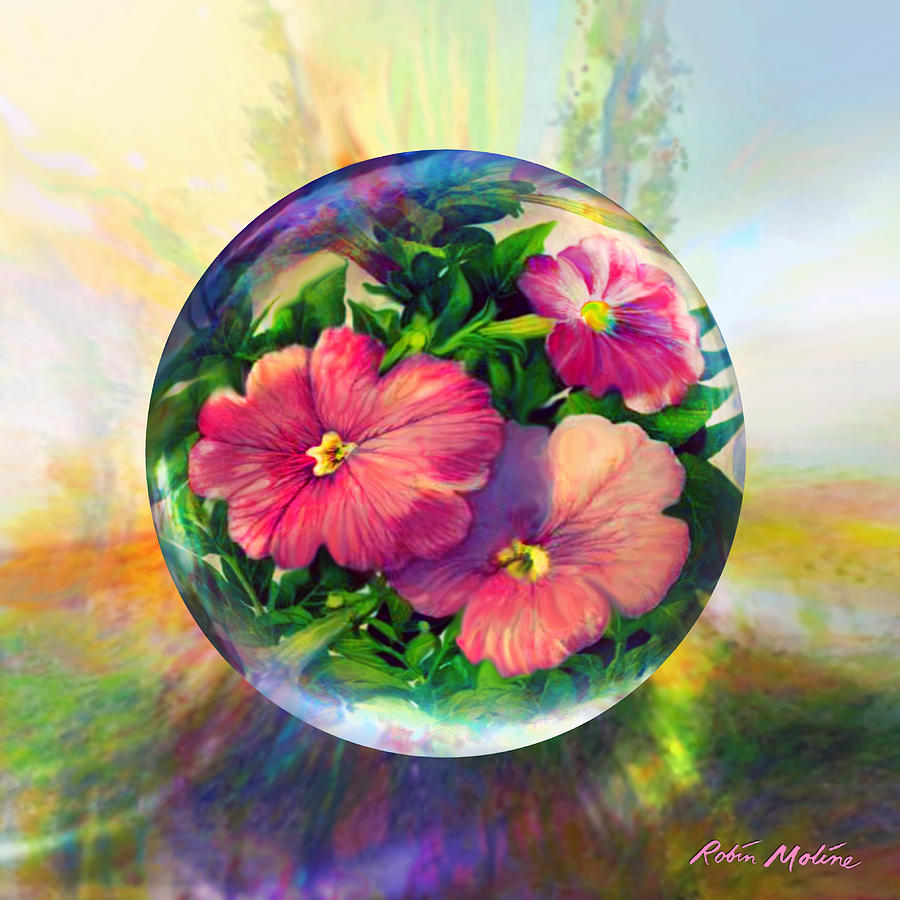 Art Globes Painting - Flowering Panopticon by Robin Moline