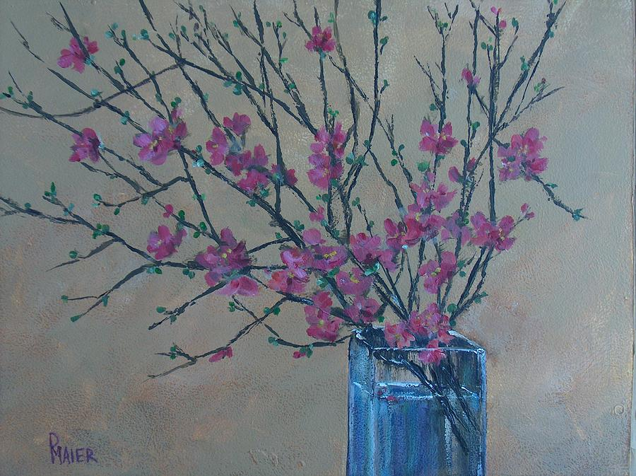 Flowers Painting - Flowering Quince by Pete Maier