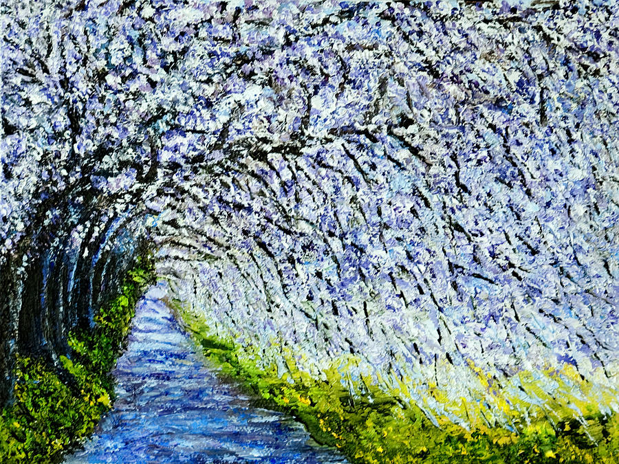 Impressionist Painting - Flowering Tree Lane by Terry R MacDonald