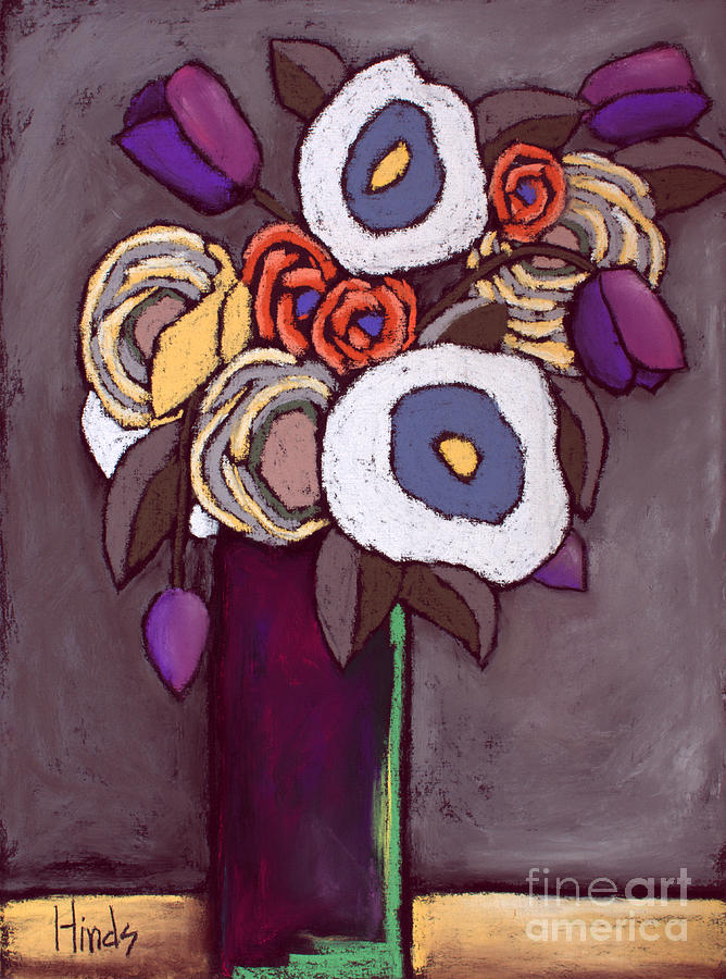Poppies Painting - Flowers - 4 by David Hinds