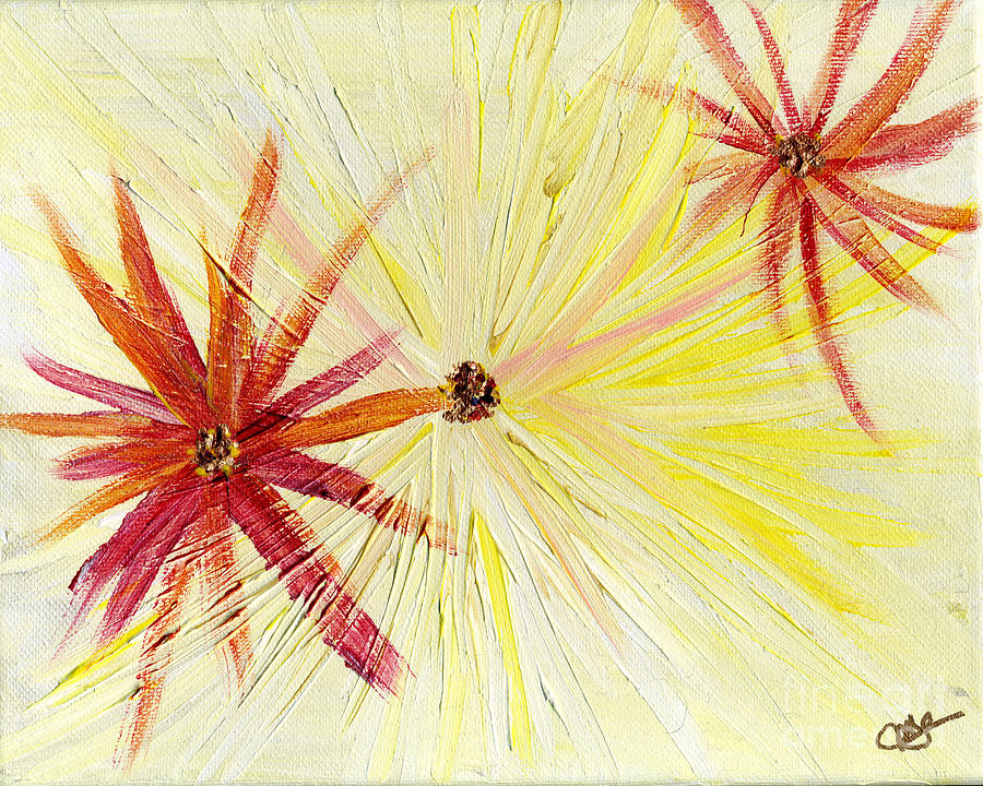 Flowers Abstract by Julia Stubbe