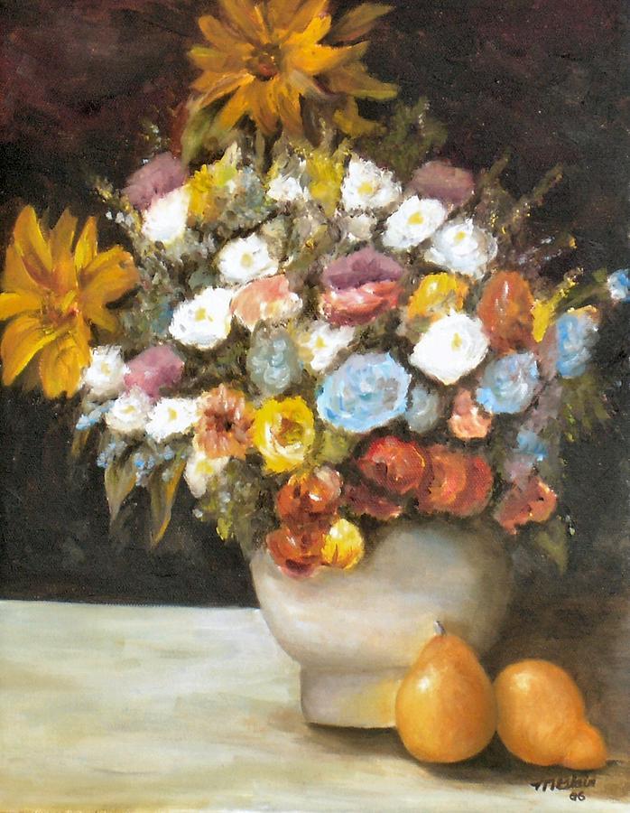 Flowers Painting - Flowers after Renoir by Merle Blair