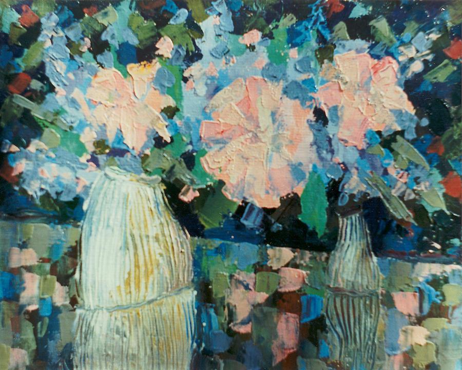 Flowers Painting by Alexander Bogomazov