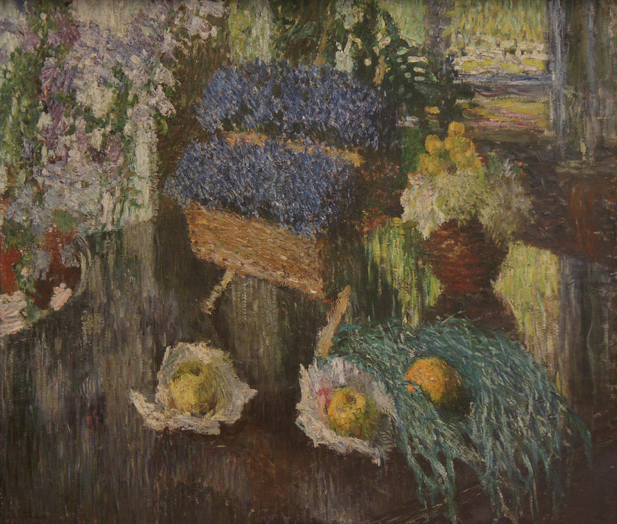 Russian Impressionism Painting - Flowers and Fruits by Igor Grabar