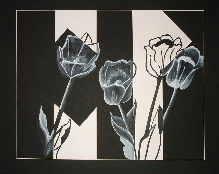 Tulips Painting - Flowers  by Andrea  Darlington