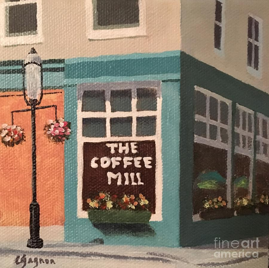 Flowers at Coffee Mill Mini by Claire Gagnon