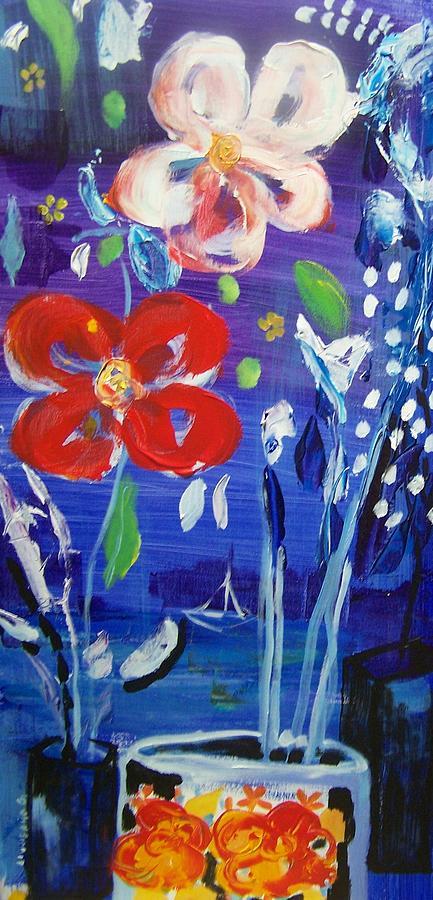 Flowers Painting - Flowers At Night by Geraldine Liquidano