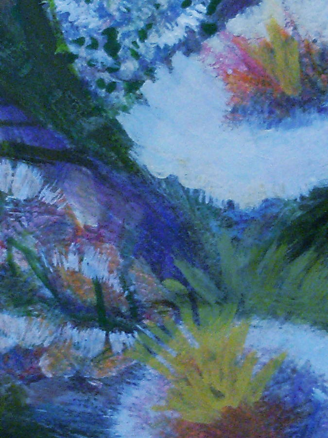 Flowers Painting - Flowers Bending With The Wind by Anne-Elizabeth Whiteway