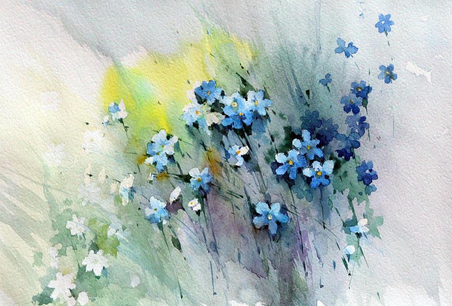 Flowers Painting - Flowers Fantasy by Natalia Eremeyeva Duarte