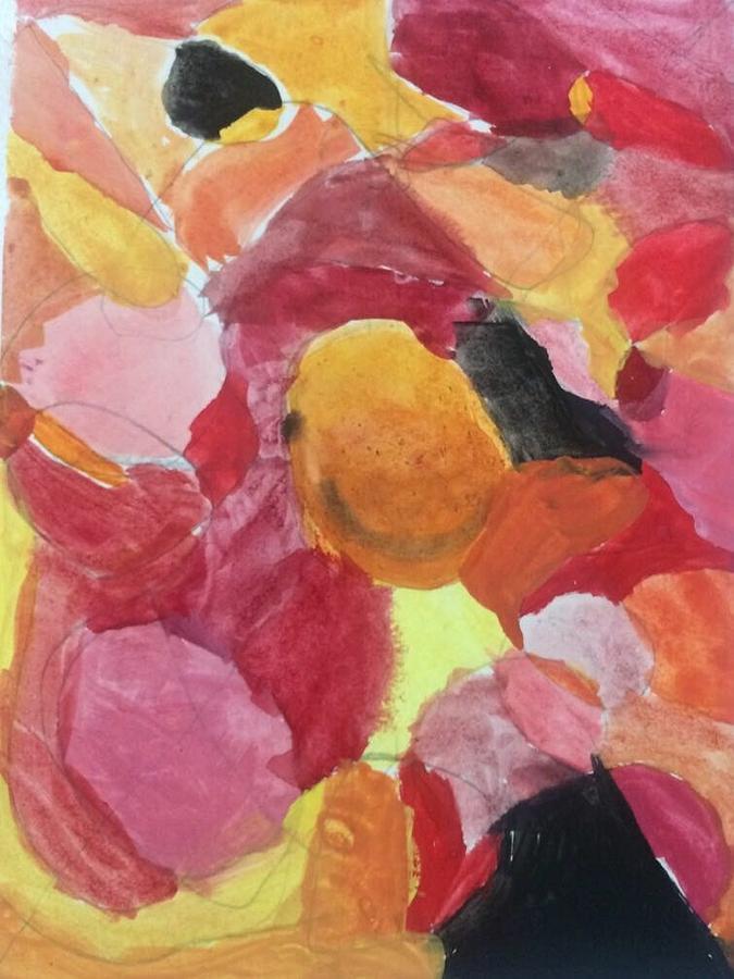 Pink Painting - Flowers by Fernanda Machuca