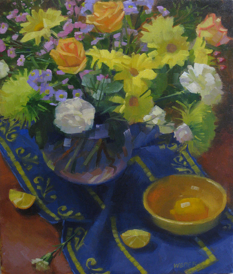 Flowers Painting - Flowers For A Valentine by Kathleen Weber