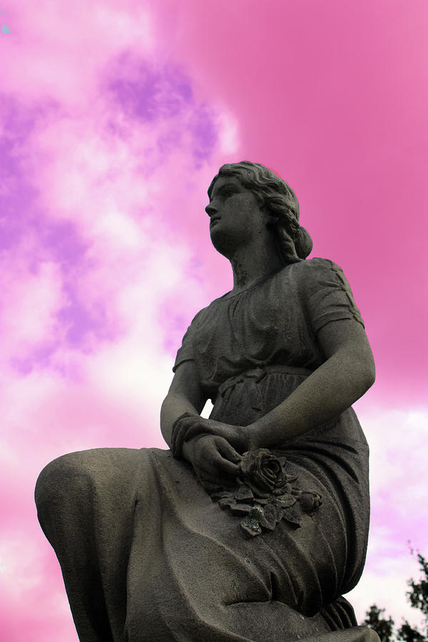 Statue Photograph - Flowers For Peace by Erin Rosenblum