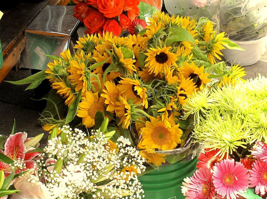 Flowers Photograph - Flowers For Sale by Ian  MacDonald