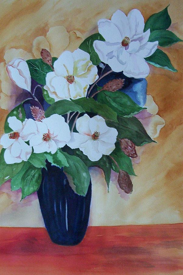 Floral Painting - Flowers For The Table by Audrey Bunchkowski