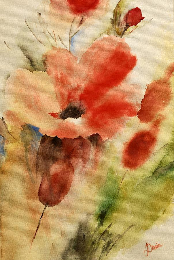 Poppies Painting - Flowers For You by Draia Coralia