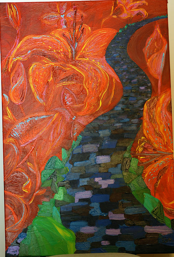 Flowers From Hell A Path To Heaven Painting by Alexia Lounds