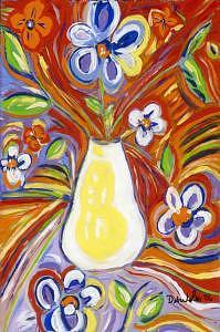 Flowers Painting - Flowers Gone Wild by Debra LaBar