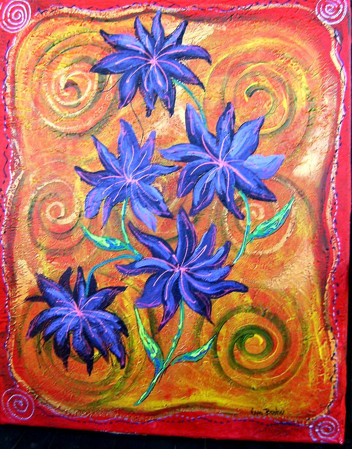 Flowers Gone Wild Painting by Tami Booher