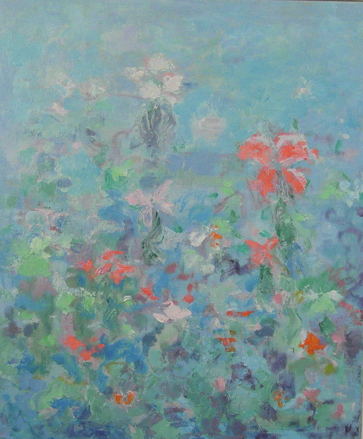 Flowers Painting - Flowers by Guillermo Serrano de Entrambasaguas