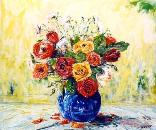 Flower Painting - Flowers by Gunter Kreil