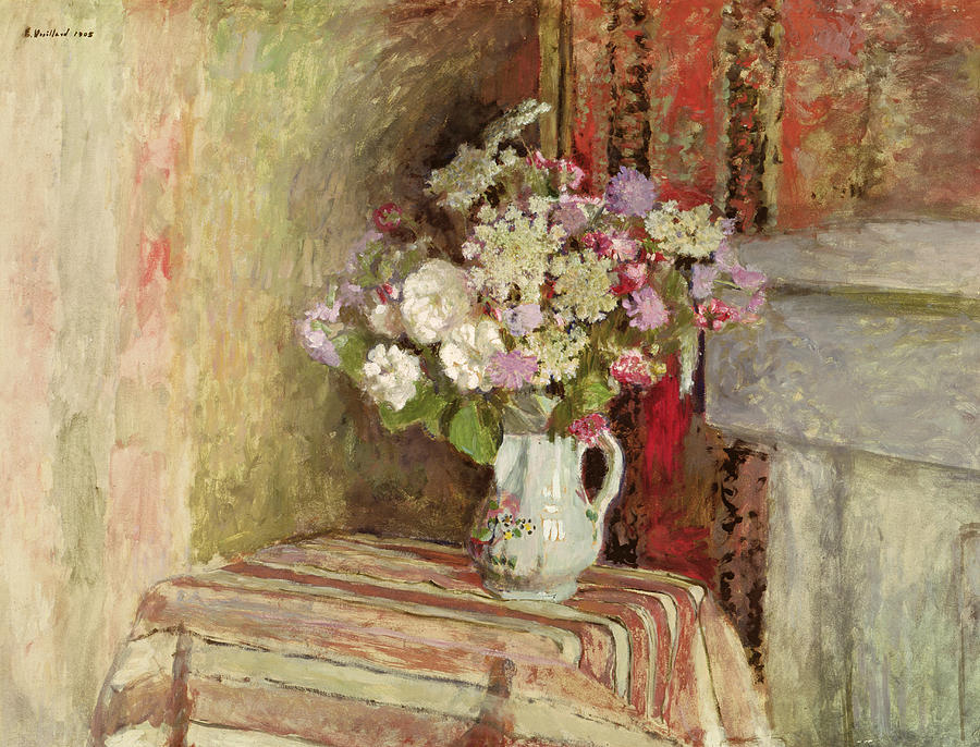 Flowers In A Vase Painting - Flowers In A Vase by Edouard Vuillard