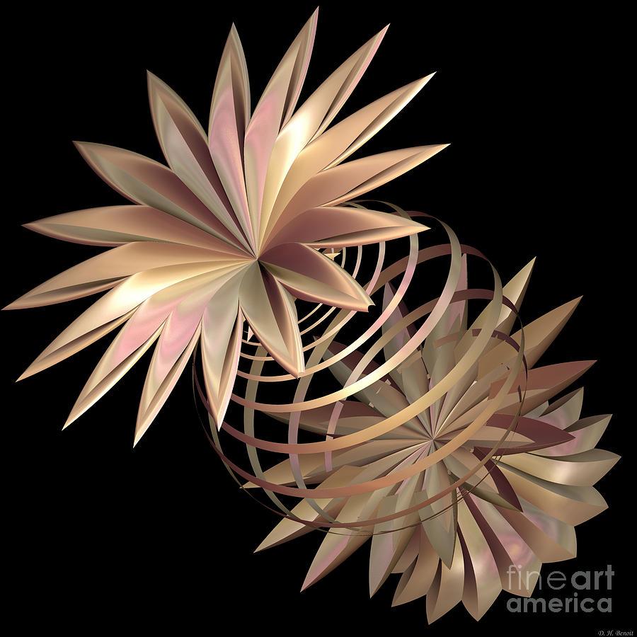 Fractal Digital Art - Flowers In Pink by Deborah Benoit