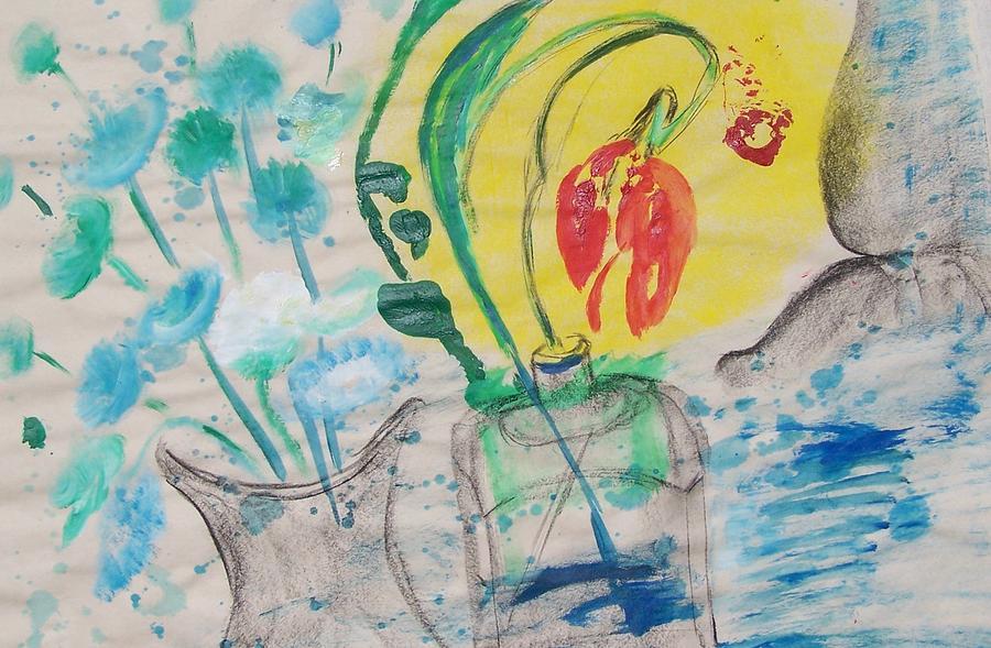 Flowers Painting - Flowers In The Sun by Geraldine Liquidano
