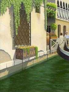 Venice Painting - Flowers In Venice by Eduardo De La Maria